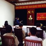 Đồng chí Trần Tấn Trang đã đọc lời tuyên thệ